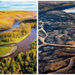 oil sands before and after